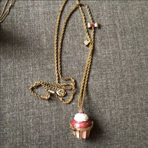 Betsy Johnson Cupcake locket necklace
